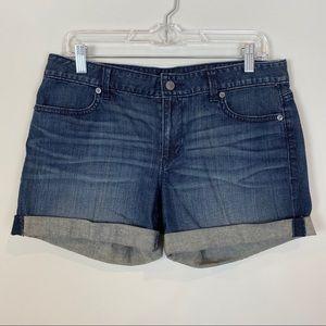 LOFT • Denim Shorts With Rolled Cuff